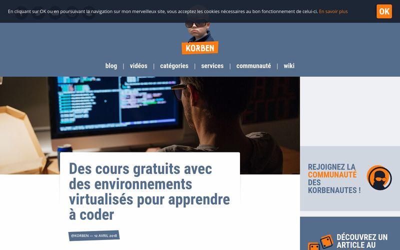 Des cours gratuits avec des environnements virtualisés pour apprendre à coder - Korben