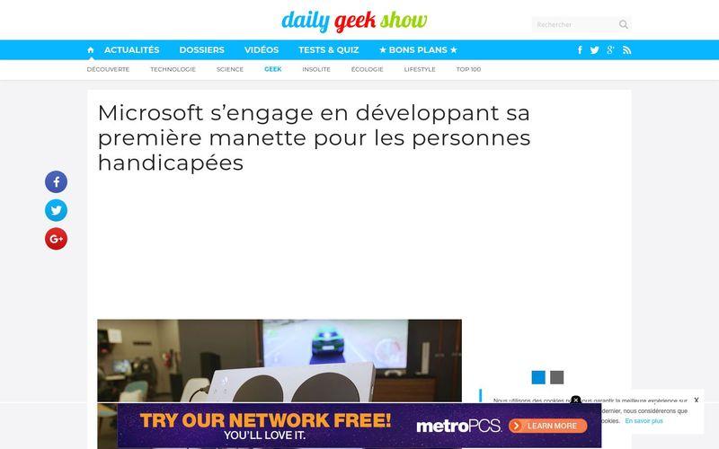 Daily Geek Show : Microsoft s'engage en développant sa première manette pour les personnes handicapées
