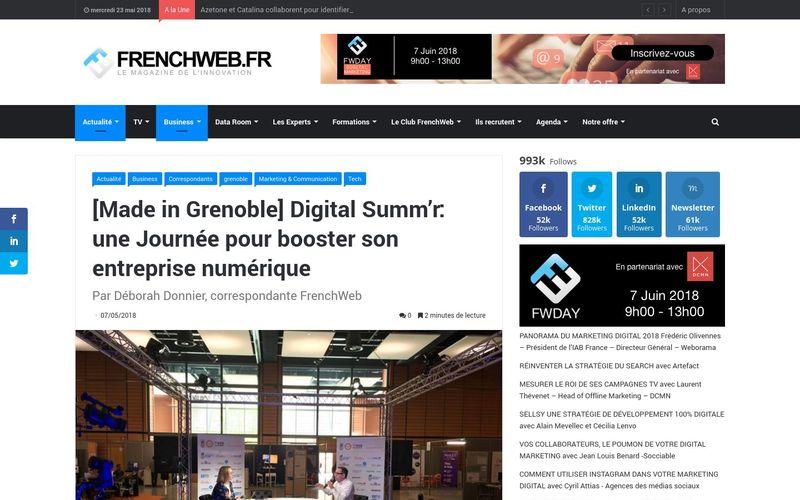 Digital Summ'r: une Journée pour booster son entreprise numérique : FrenchWeb.fr